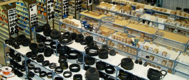 Industrial Parts on Shelves